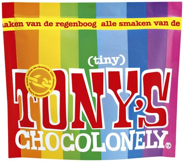 Chocolade Tony's Chocolonely Tiny mix 180g zak à 20 stuk