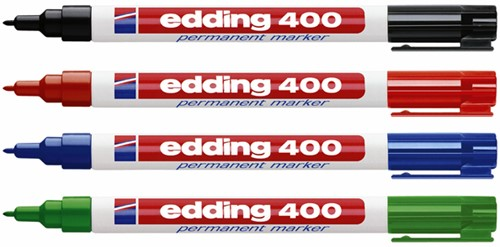 Viltstift edding 400 rond blauw 1mm-1