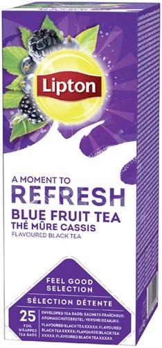 Thee Lipton Refresh Blauwe bessen 25stuks