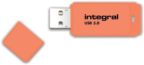 USB-stick 3.0 Integral 64GB neon oranje