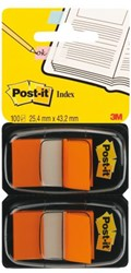 INDEXTABS 3M POST-IT 6802ORA MEDIUM ORANJE 2X50 Stuk
