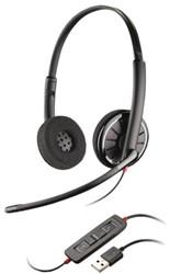 HEADSET PLANTRONICS USB C320 BLACK WIRE 1 Stuk