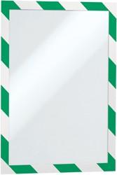 DURAFRAME SECURITY DURABLE A4 ZELFKL GROEN/WIT 2 STUK