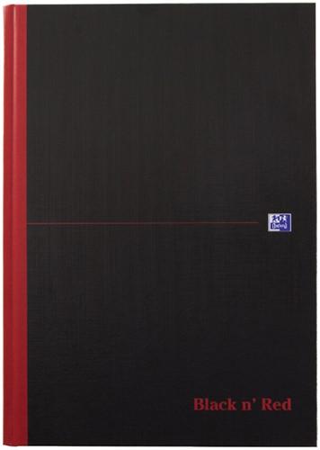 Notitieboek Oxford Black n' Red A4 96vel lijn zwart