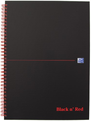 Notitieboek Oxford Black n' Red A4 70v ruit 5mm