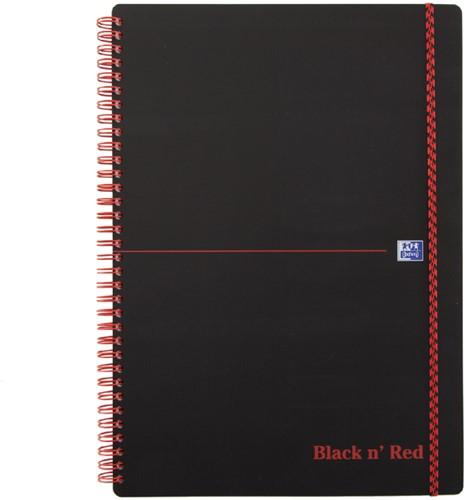 Notitieboek Oxford Black n' Red A4 PP 70vel ruit 5mm
