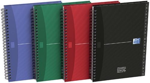 Adresboek Oxford Essentials A5 72vel dubbelspiraal assorti