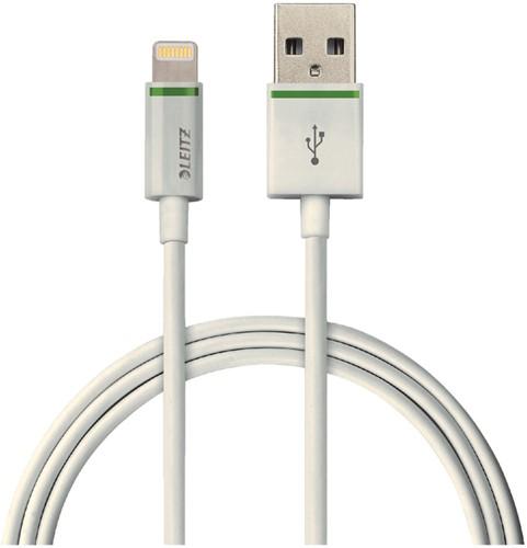 Kabel Leitz USB Lightning-A 2 meter wit
