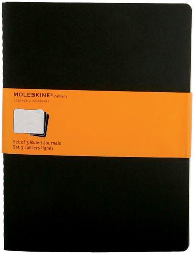 Schrift Moleskine XL 190x250mm lijn 240blz zwart