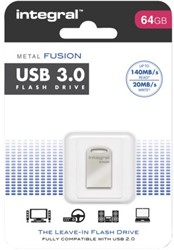 USB-STICK INTEGRAL FD 64GB METAL FUSION 3.0 1 Stuk