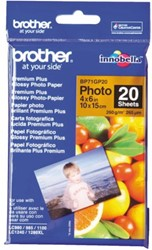 FOTOPAPIER BROTHER BP-71 10X15CM 260GR GLANS 20 VEL