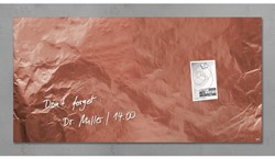 GLASBORD SIGEL MAGNETISCH 910X480X15MM KOPER 1 STUK