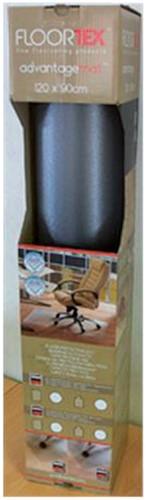 Stoelmat Floortex PVC 120x90cm voor zachte vloeren retailpak