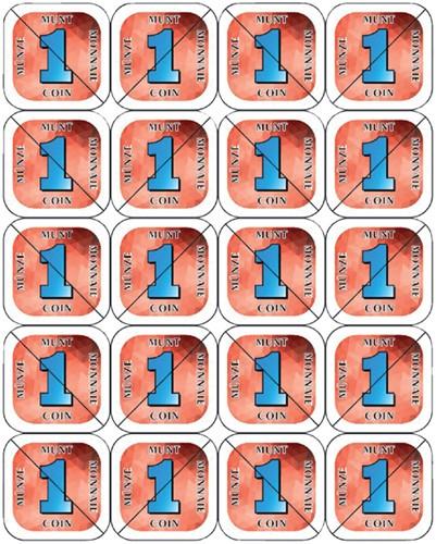 Consumptie breekmunten Combicraft 200st rood