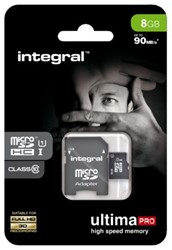 GEHEUGENKAART INTEGRAL MICRO SDHC 8GB ULTIMAPRO CL10 1 STUK