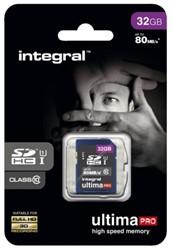 GEHEUGENKAART INTEGRAL SDHC 32GB ULTIMAPRO CL10 1 Stuk