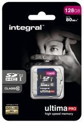GEHEUGENKAART INTEGRAL SDXC 128GB ULTIMAPRO CL10 1 Stuk