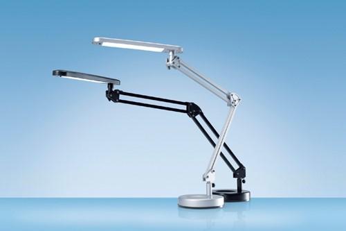 Bureaulamp Hansa led 4stars zilvergrijs