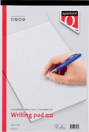 Schrijfblok Quantore A4 gelinieerd