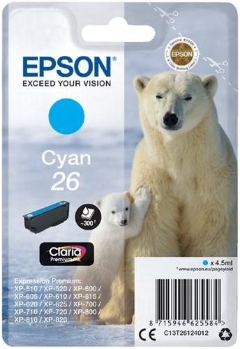 Inktcartridge Epson 26 T2612 blauw