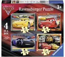 PUZZEL RAVENSBURGER CARS 3 12+16+20+24ST 1 Stuk