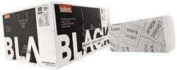 HANDDOEK SATINO BLACK 25X23CM 1-LAAGS ZIGZAG 18 Pak
