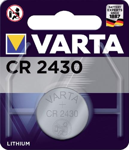 Batterij Varta knoopcel CR2430 lithium blister à 1stuk