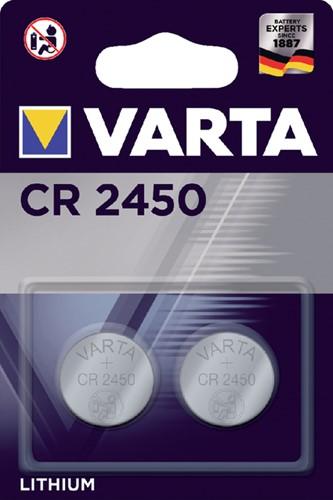 Batterij Varta knoopcel CR2450 lithium blister à 2stuk