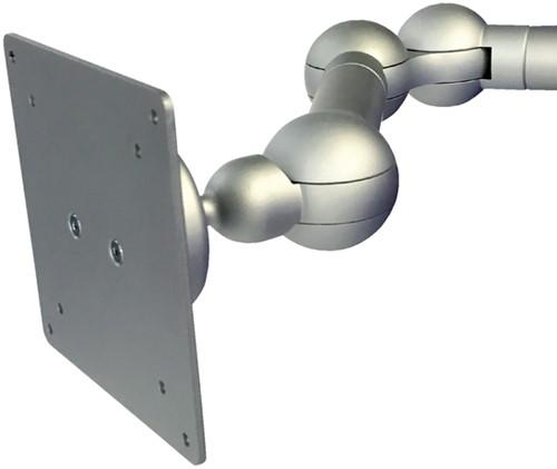 """Monitorarm R-Go-Tools E-Motion 24"""" met klem zilvergrijs"""