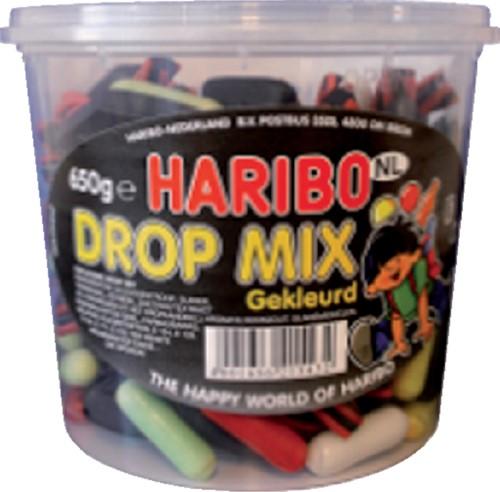 Haribo Dropmix gekleurd 650gram
