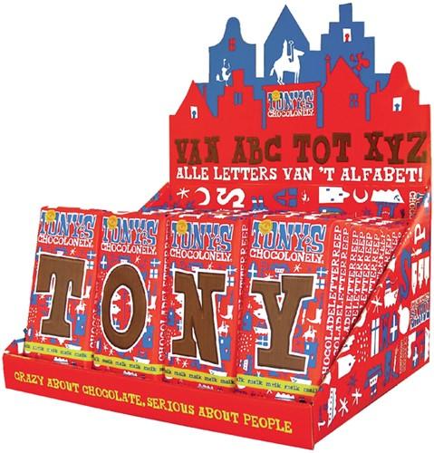 Tony's Chocolonely letterrepen display à 60 stuks alfabet
