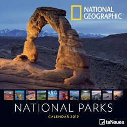 KALENDER 2019 TENEUES NAT GEO NATIONAL PARKS 30X30CM 1 Stuk