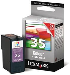 INKCARTRIDGE LEXMARK 35XL 18C0035E HC KLEUR 1 Stuk